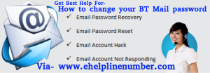 How to change my BT Mail password