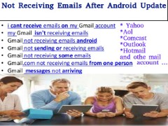Not receiving emails after android update