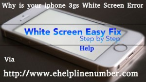 iphone 3gs White Screen Error