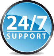 24 by 7 customer support